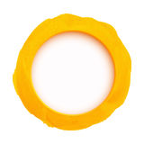 Round yellow watercolor banner Stock Photos