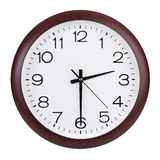 Round zegar pokazuje połówkę tercja Zdjęcia Stock