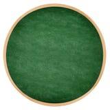 Round zielony chalkboard lub blackboard okrąg Obrazy Stock