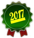 2017 round zielony faborek ilustracja wektor