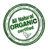 Round znaczek z tekstem: Wszystko Naturalny Organicznie Obraz Royalty Free