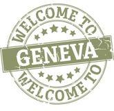 Round znaczka powitanie Geneva odznaka ilustracji