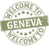 Round znaczka powitanie Geneva odznaka ilustracja wektor