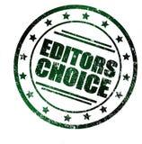 Round znaczki z tekstem: Redaktora wybór w grunge spojrzeniu, Fotografia Royalty Free