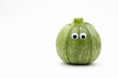 Round zucchini face Royalty Free Stock Image