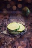 Round zucchini Stock Photo