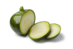 Round zucchini with slices Royalty Free Stock Image