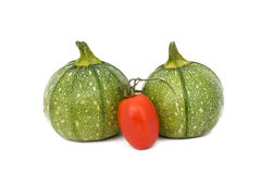 Round Zucchini And Tomato Royalty Free Stock Images