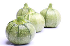 Round zucchini  on white Stock Photography