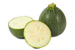 Round zucchini Royalty Free Stock Images