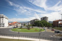 Roundabout. Between hospital and industrial zone at Santander, Spain Stock Photo