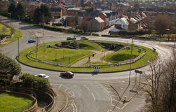 Roundabout. The circular Victory roundabout in Basingstoke, Hampshire Royalty Free Stock Images