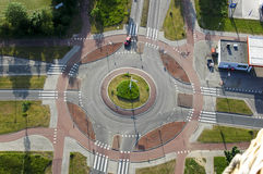 Roundabout from above Royalty Free Stock Photography