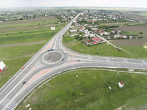 Roundabout aerial Royalty Free Stock Images