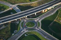 Roundabout from Air Royalty Free Stock Photos