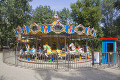 Roundabout in the amusement park. Roundabout  in the amusement park Royalty Free Stock Image