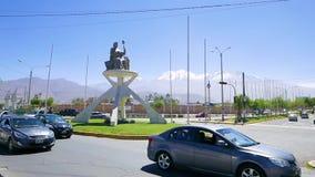 Roundabout aviation street Arequipa Peru.