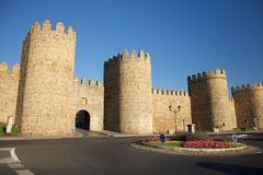 Roundabout at Avila door Royalty Free Stock Photos