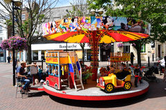 Roundabout in Aylesbury Town Centre. Merry-go-round in town centre Stock Images