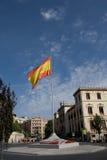 Spanish flag in granada Royalty Free Stock Photos