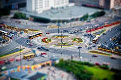 Roundabout in the city Royalty Free Stock Image