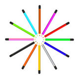 Roundabout colored pensil Stock Photo
