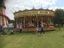 Roundabout at a fair. Royalty Free Stock Photography