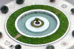 Roundabout fountain Royalty Free Stock Photo