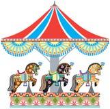Roundabout horse carousel Royalty Free Stock Image