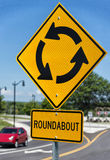 Roundabout intersection sign Royalty Free Stock Image