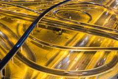 Roundabout and junction. On Sheikh Zayed Road downtown Dubai,  United Arab Emirates Stock Photo