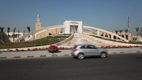 Roundabout in Kuwait stock video footage
