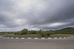 Roundabout. Stock Photo