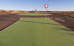 Roundabout New construction Royalty Free Stock Photography