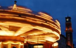 Roundabout at night Royalty Free Stock Photo
