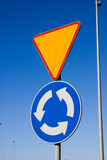 Roundabout sign Stock Images