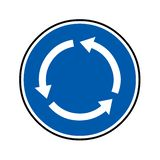 Roundabout road sign. With a white background vector illustration