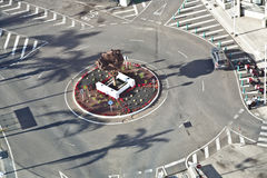 Roundabout with sculpture in Arrecife Lanzarote Royalty Free Stock Photos