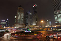 Roundabout in Shanghai Royalty Free Stock Photo