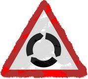 Roundabout sign. Grunge style Roundabout sign isolated on white royalty free illustration