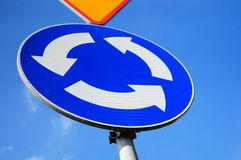 Roundabout sign Stock Photography