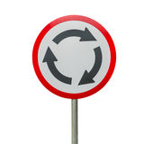 Roundabout sign isolate Stock Photo