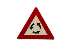 Roundabout sign Stock Image
