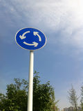 Roundabout sign Royalty Free Stock Photography