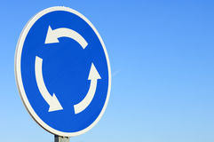 Roundabout signal Stock Image
