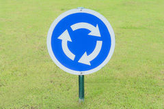 Roundabout Signs at park Royalty Free Stock Photo