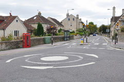 Roundabout and Street View Royalty Free Stock Photography
