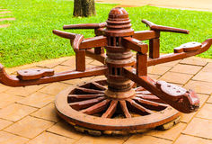 The roundabout. A roundabout toy wood in thailand Royalty Free Stock Photography