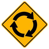 Roundabout Traffic Road Sign,Vector Illustration, Isolate On White Background Icon. EPS10. Roundabout Traffic Road Sign,Vector Illustration, Isolate On White stock illustration