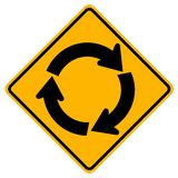Roundabout Traffic Road Sign,Vector Illustration, Isolate On White Background Icon. EPS10 vector illustration
